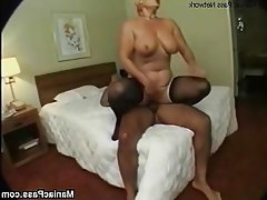 Anal, Granny, Mature, Stockings, Threesome