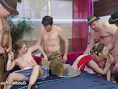 Group Sex, German, Bukkake, Orgy