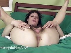 Brunette, Hairy, Masturbation, Mature, Small Tits