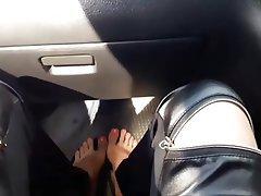 Amateur, Foot Fetish, Webcam, Car