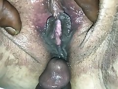 Hairy, Creampie, Orgasm, Big Black Cock