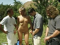 Anal, Blonde, Group Sex, Outdoor
